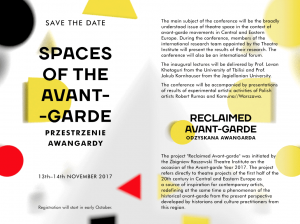 Conference_Spaces of the Avant-garde_13-14.,11.2017